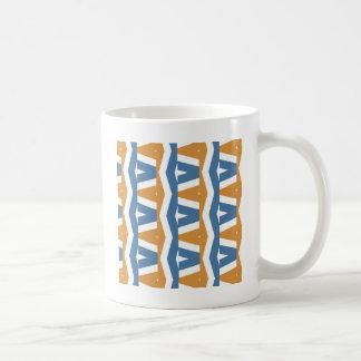 Abstrakter Zickzack Kaffeetasse