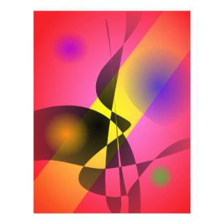 Abstrakter Zusammensetzungs-Rot-Wind Bedruckte Flyer