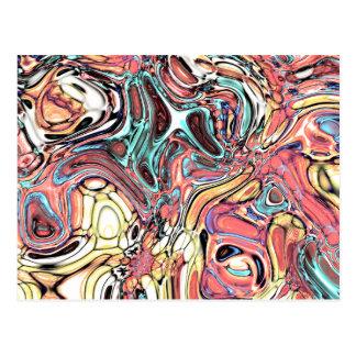 Abstraktes 02-Swirls und Pfützen, geändert Postkarte