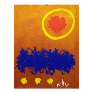 Abstraktes 10-7 durch Piliero 21,6 X 27,9 Cm Flyer