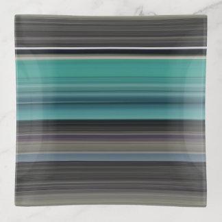 Abstraktes #1: Aquamarin und grau Dekoschale