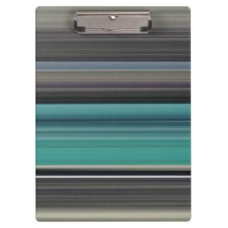 Abstraktes #1: Aquamarin und grau Klemmbrett