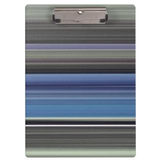 Abstraktes #1: Blau und Grau Klemmbrett