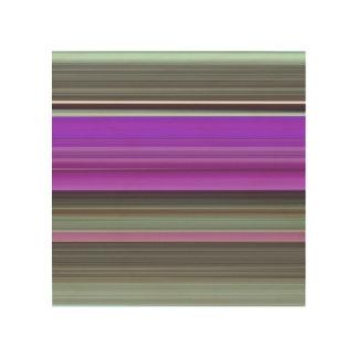 Abstraktes #1: Lila und grau Holzleinwand
