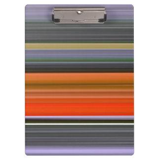 Abstraktes #1: Orange und Grau Klemmbrett