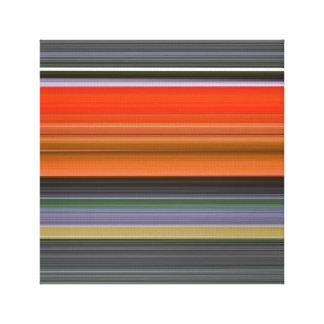 Abstraktes #1: Orange und Grau Leinwanddruck