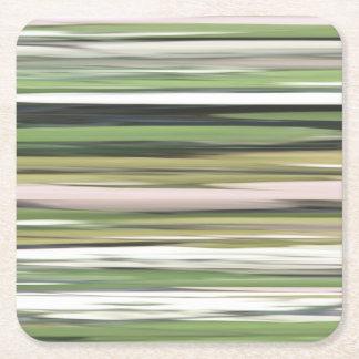 Abstraktes #2: Olivgrünunschärfe Rechteckiger Pappuntersetzer
