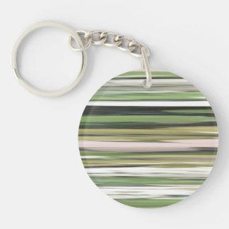 Abstraktes #2: Olivgrünunschärfe Schlüsselanhänger