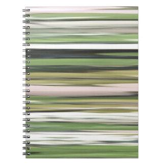 Abstraktes #2: Olivgrünunschärfe Spiral Notizblock