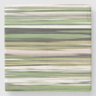 Abstraktes #2: Olivgrünunschärfe Steinuntersetzer