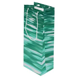 Abstraktes #3: Grüner Schimmer Geschenktüte Für Weinflaschen