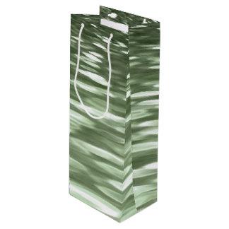 Abstraktes #3: Olivgrünunschärfe Geschenktüte Für Weinflaschen