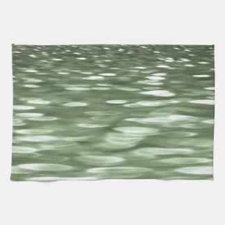 Abstraktes #3: Olivgrünunschärfe Handtuch