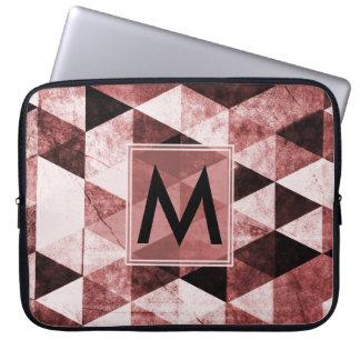 Abstraktes #490 mit Monogramm Laptopschutzhülle