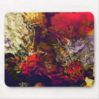 Abstraktes Abends-Rot, Creme und blaue Mousepads
