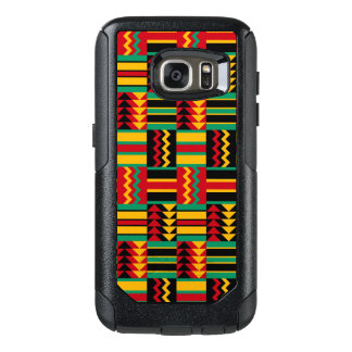 Abstraktes Afrikaner Kente Stoff-Muster-rotes Gelb OtterBox Samsung Galaxy S7 Hülle