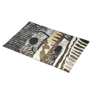 Abstraktes afrikanisches Dschungel-Stamm-Muster Stofftischset
