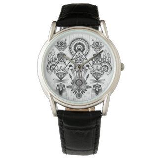 Abstraktes altes gebürtiges indisches Stammes- Armbanduhr