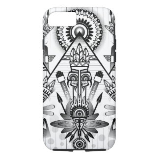Abstraktes altes gebürtiges indisches Stammes- iPhone 8/7 Hülle
