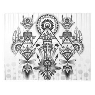 Abstraktes altes gebürtiges indisches Stammes- Notizblock