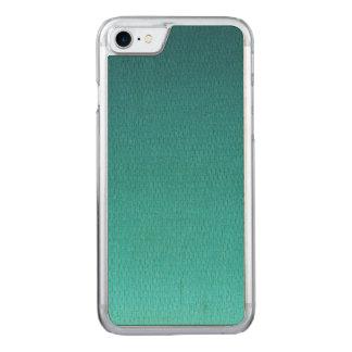 Abstraktes aquamarines Steigungs-Muster Carved iPhone 8/7 Hülle