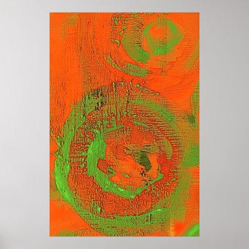 Abstraktes asiatisches Fragen-Grün-Plakat
