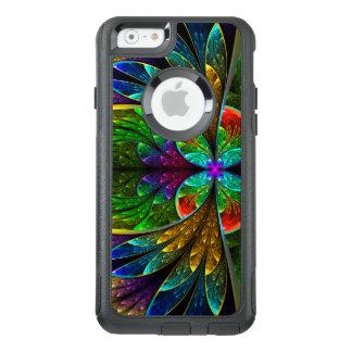 Abstraktes beflecktes Glas-Blumenmuster OtterBox iPhone 6/6s Hülle