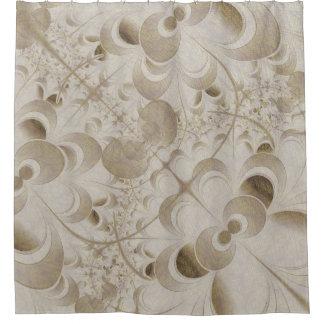 Abstraktes beige Muster Duschvorhang