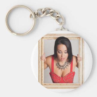 Abstraktes Bild einer schönen Frau Schlüsselanhänger