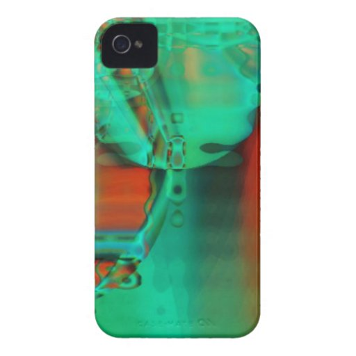 Abstraktes BlackBerry-mutiger Kasten iPhone 4 Cover