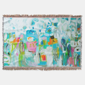 Abstraktes Blau Decke