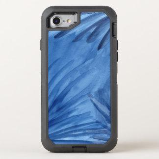 Abstraktes Blau gemalte Strahlen OtterBox Defender iPhone 8/7 Hülle