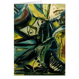 Abstraktes Blau Karte