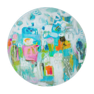 Abstraktes Blau Schneidebrett