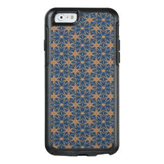 Abstraktes Blau und Brown-Tapeten-Muster OtterBox iPhone 6/6s Hülle