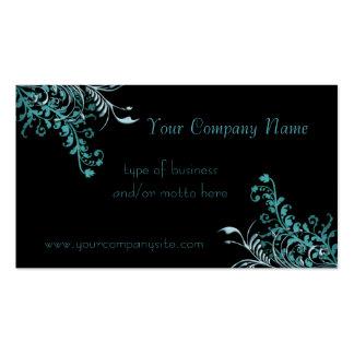 Abstraktes blaues Blumen verschönert Visitenkarten