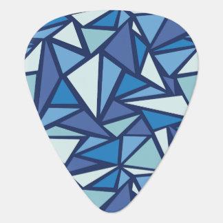 Abstraktes blaues Eis Crsytal Muster Plektrum