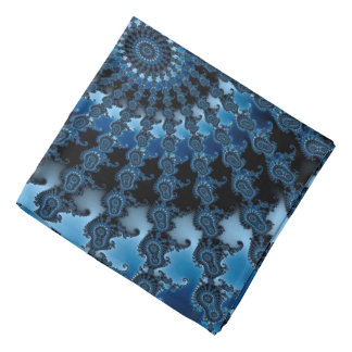 Abstraktes blaues Eis-Muster Halstuch
