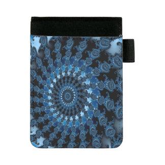 Abstraktes blaues Eis-Muster Mini Padfolio