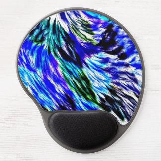 Abstraktes blaues Grün-weißes lila Muster Gel Mousepad