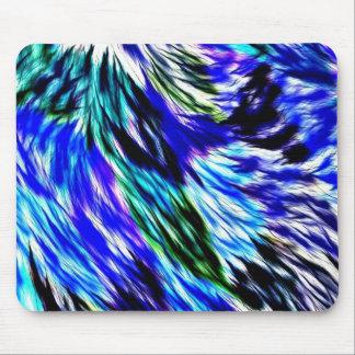 Abstraktes blaues Grün-weißes lila Muster Mauspads