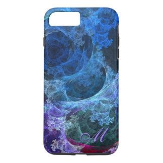Abstraktes blaues Lacy Wellen und Wirbel iPhone 6 iPhone 8 Plus/7 Plus Hülle