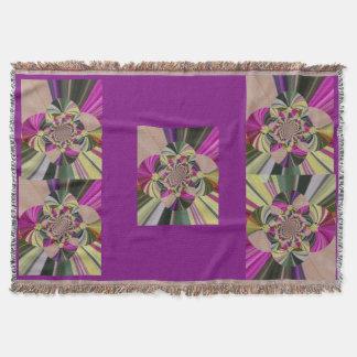 Abstraktes Blumen-Muster Decke