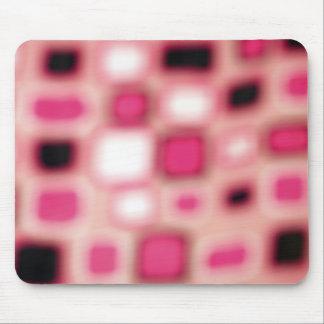 Abstraktes Blurry rosa Quadrat berechnet Kunst Mauspad