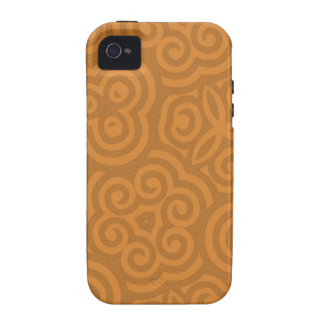 Abstraktes Bronzemuster Case-Mate iPhone 4 Case