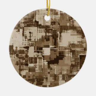 Abstraktes Brown-Camouflagemuster Rundes Keramik Ornament