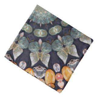 Abstraktes Brown-Kaleidoskop Kopftücher