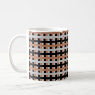 Abstraktes Brown, Silber und Schwarzes Kaffeetasse