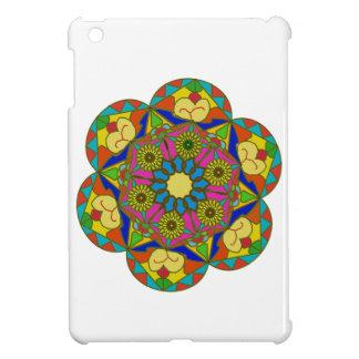 Abstraktes buntes Blumenzeichnen iPad Mini Hülle