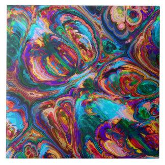 abstraktes buntes hübsches der Retro Kunst der Keramikfliese